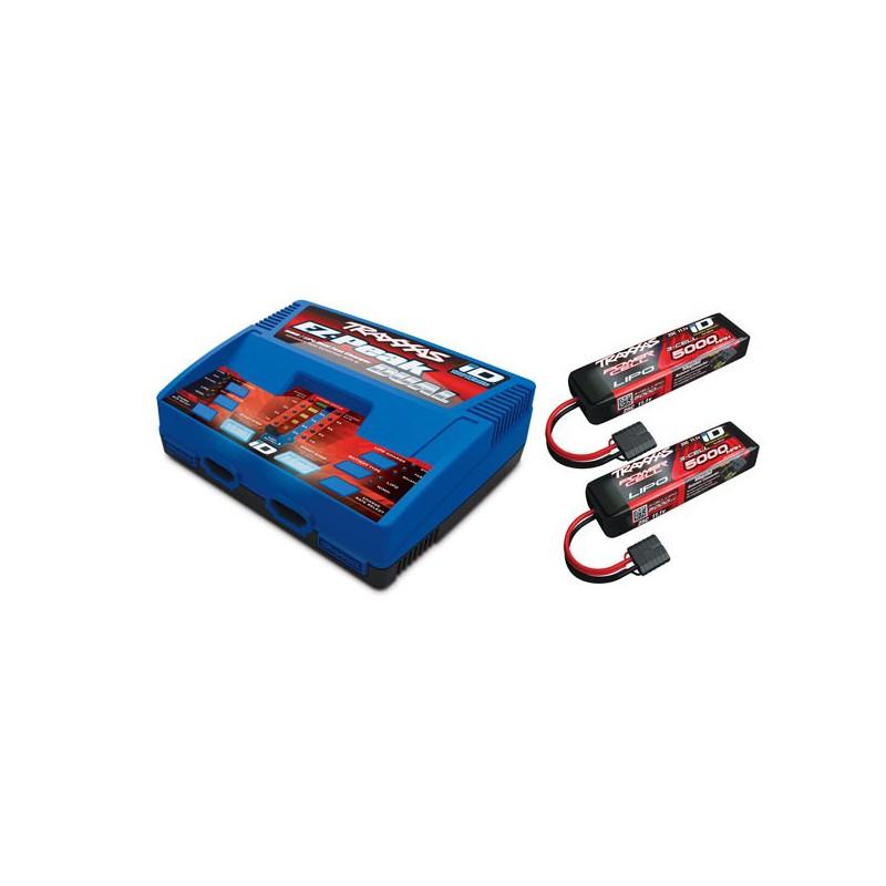 Électronique TRAXXAS CHARGEUR DOUBLE + 2 X BATTERIE LIPO 5000