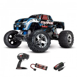 STAMPEDE - 4x2 - BLEU - 1/10 BRUSHED TQ 2.4GHZ - iD